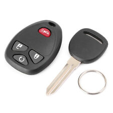 Remote Control Key Fob + Uncut Ignition Key for Chevy Silverado 1500/2500/3500