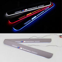2x LED Moving Door Scuff Plate Step Light Panel Flash Sills for BMW 7 Series