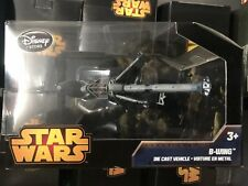 "Disney Store STAR WARS ""B-WING"" Deluxe Die Cast Vehicle - Brand New Sealed"