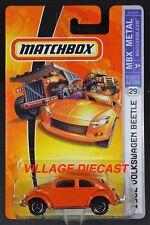 2007 Matchbox #29 '62 Volkswagen Beetle ORANGE/MOC