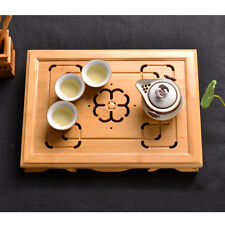 New  Bamboo Gongfu Tea Tray Chinese Serving Table Medium Size Quality 36*26*6cm