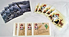 Leanin' Tree + Carlton Christmas Card Bundle 14 Cards 10 Envelopes Merry Xmas
