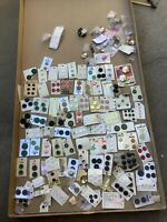 Vintage Lot Of Carded  Plastic Buttons 1 Pound 6 Ounces With Cards.