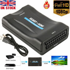 HD 1080P SCART To HDMI Video Audio Upscale Converter Adapter TV DVD SkyBox UK