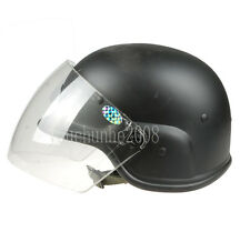 AIRSOFT M88 PASGT KELVER SWAT HELMET WITH CLERA VISOR BLACK-34339
