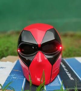 Custom Deadpool Red Helmet For Motorcycle ( approved DOT/ECE )