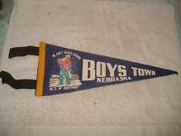 VINTAGE 1940s Boys Town Nebraska wool/felt Pennant