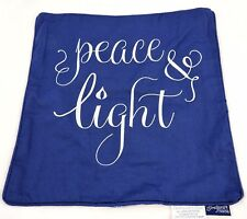 Square canvas Pillow Cover Case Peace Light home decor Blue Winter Holiday 18x18