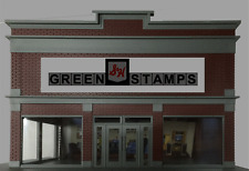 S&H GREEN STAMPS ANIMATED NEON BUILDING SIGN BY MILLER ENG- IDEAL FOR O-SCALE!