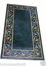 4'x2' Marble Dining Table Top Rare Mosaic Grand Pietradure Inlay Patio Art H1478