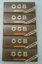 Ocb Natural Medium 1 1/4 Slim Rolling Papers+Filter Tips Unbleached 5 Booklets