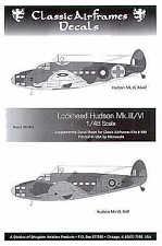Classic Airframes 1/48 Lockheed Hudson Mk.III/Mk.VI # D48003