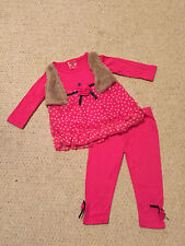 "NEW ""PINK Rose Dot"" Vest & Pants Girls 4 Fall Winter Clothes Baby Boutique Kids"