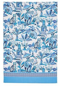 "Ulster Weavers, ""India Blue"", Pure cotton printed tea towel"