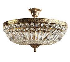 Crystal Ceiling Light Schönbrunn Antique Gold from Sanded Crystal New