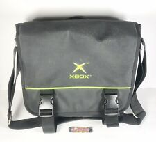 Original Xbox Black Messenger Bag Crossbody Case Carry with Strap EUC - Nice!