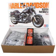 Tamiya 16041 1/6 Motorcycle Model Kit Harley Davidson Softail FLSTFB Fat Boy Lo