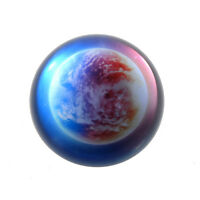 Clearance Sale Earth Planet Crystal Ball Paperweight Half Sphere Ornament 80MM