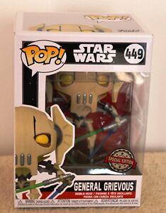 Star Wars  Funko pop  Général Grievous  449  édition spéciale limitée