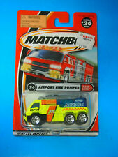 Matchbox 2001 #26 Airport Fire Pumper MFD7 Action MOC VHTF Flame Eaters