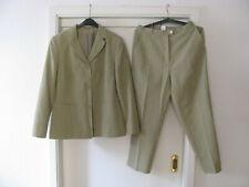 Damen Hosen-Anzug Gr. 40 helles grün Hose & Blazer sommerlich leicht 2-teilig