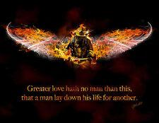 No Greater Love (Fireman) Jason Bullard Novelty Firefighter Print Poster 18x14