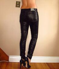 Seven 7 For All Mankind Skinny Gwenevere Velvet Jeans Pants Black Moon 26 2