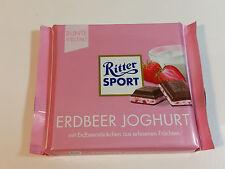 Ritter Sport  - ERDBEER JOGHURT - 3.5oz - 100g - MADE IN GERMANY -