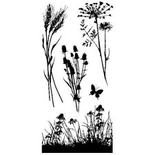 Inkadinkado Clear Stamps - Meadow, Flower Silhouetted, Cornflowers, Wheat