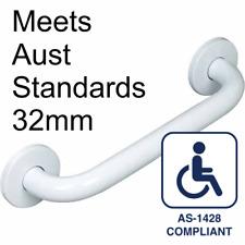 450mm GRAB/SAFETY RAIL 32mm Quality WHITE Handrail for Bathroom/Shower/Toilet