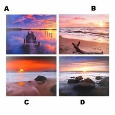 Canvas Print Art Photograph Printed Seascape Picture Sunset Ocean 50x60cm