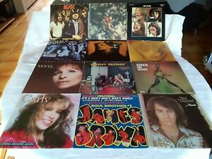 LOT 12×LP: PINK FLOYD, AC/DC, BEATLES, R. STONES,... ORIGINAUX MAUVAIS ÉTAT.