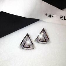 18K Gold Plated Triangle Earrings made with Swarovski Elements  SILVER
