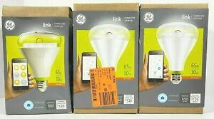 3PK GE Link Smart Connected LED Light Bulbs BR30 Soft White Wink Zigbee  10W/65W