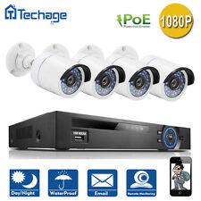Techage 4CH 1080P POE NVR 4PCS 2.0Mp P2P IP Camera CCTV System Surveillance Kit