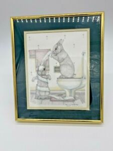 """Rare Vintage1999 Sue Rupp Signed & Numbered 669/1000 """"Hare in a Spiral Wrap"""""""
