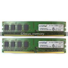 New Crucial 4GB 2X2GB DDR2 PC2-6400 800MHz 240Pin Desktop DIMM Memory Ram Intel