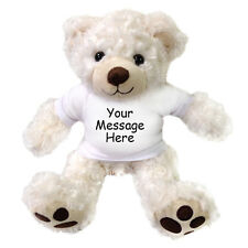 "Personalized Teddy Bear - 13"" Vera Bear - White"