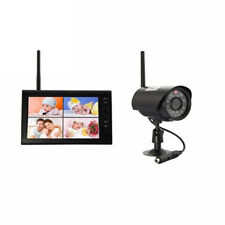 "Wireless 4CH Digital Quad DVR 7"" TFT-LCD Monitor Home System+1 IR Camera Outdoor"