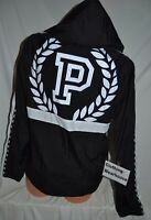 Victoria Secret PINK Snap Funnel Neck Anorak Black White Sport Jacket XS/S, M/L