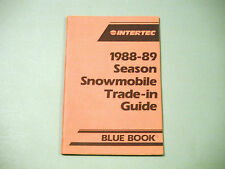 New listing 1988-1989 Snowmobile Blue Book Trade-in Guide