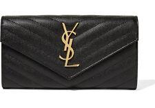 Brand New Saint Laurent YSL Large College Flap Monogram Wallet