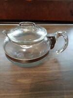 RARE Vintage Pyrex Flameware Glass Coffee Pot Tea PotKettle 6 Cup B126B
