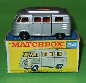 Matchbox / 34 Volkswagen 'Low Roof' Camper / Boxed