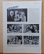 1937 magazine ad for Heinz - Life of the Party, Bridge, Birthday, Stag, Posh