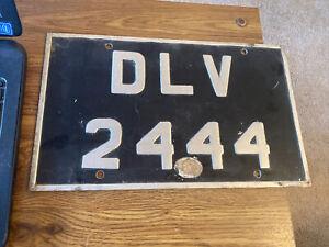 """Vintage Old Metal address Sign DLV 2444 14"""" x 8-1/2"""""""