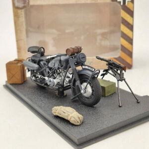 BMW R75 Motorcycle World War II 1939-1945 1/24 Diecast Model Collection Black