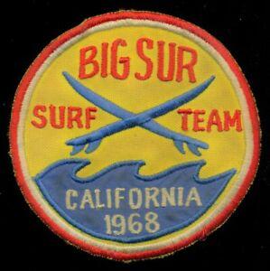 Big Sur Northern California Surf Team 1968 Patch CT4