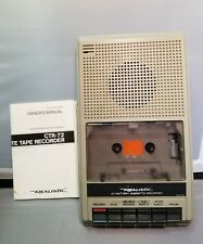 Vintage Realistic Ctr-72 Ac/Battery Cassette Recorder by Radio Shack Tested !