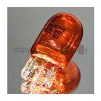 2er Set W21W Glühlampen Gelb Orange 12V W3x16d Glassockel Blinklicht Bulbs NEU D